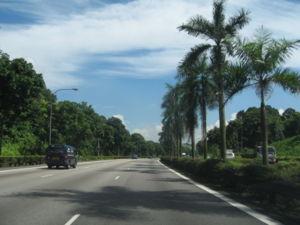 Bukit Timah Expressway - Bukit Timah Expressway in northbound direction to Johor Bahru.