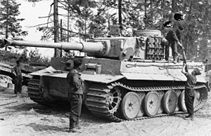 502nd Heavy Panzer Battalion - A Tiger I heavy tank of the 502nd near Lake Ladoga, August 1943