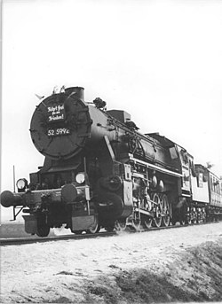 Lokomotiva 52 5992 v roce 1953