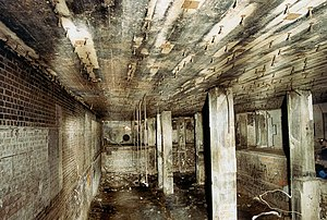Bankstown Bunker - The same room as it is today, after a fire destroyed it in 1972