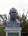 Bust of John Steinbeck in Monterey, California, whose Cannery Row was featured prominently in two of the author's novels LCCN2011634742.tif