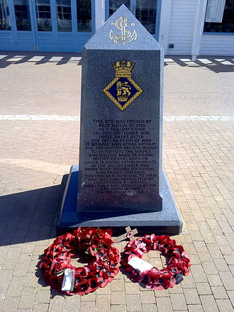 HMS Royal Arthur (shore establishment) - Image: Butlins Skegness Memorial 1 (Nigel Coates)