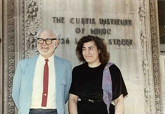 Vladimir Sokoloff (pianist) - Dr. Vladimir Sokoloff and pianist Ruth Butterfield-Winter in front of the Curtis Institute of Music
