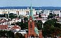 Bydgoszcz - widok kościoła św. Andrzeja Boboli . Widok z dawnej wieży ciśnień - panoramio.jpg
