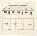 Byggnadsritning över Gripenberg, 1650-1660-tal - Skoklosters slott - 98987.tif