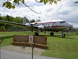 C-54 Skymaster (Rosinenbomber) registration 5557 at Flughafen Tempelhof pic1.JPG
