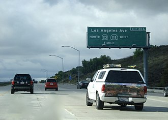 California State Route 23 - CA 23 north before it reaches CA SR 118 near Moorpark