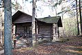 CCC built cabins at Douthat State Park cabin 8 in the woods (25353682507).jpg