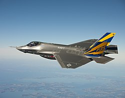 F-35C Lightning II nad Chesapeake Bay