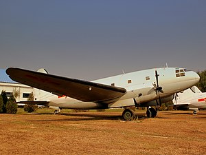 CHINESE AIR FORCE CURTISS C46 AT THE DATANSHAN AVIATION MUSEUM BEIJING CHINA OCT 2012 (8162355270).jpg