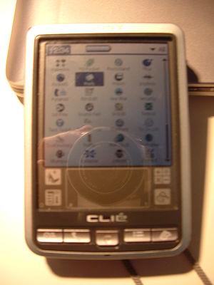 Sony CLIÉ PEG-SJ22 - Front view of the Clie PEG-SJ22