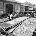 COLLECTIE TROPENMUSEUM Het drogen van kopra in Mutean een paaldorp aan de Segara Anakan (Kinderzee) Midden Java TMnr 10012507.jpg