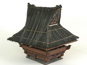 Jambur - A model of a traditional jambur. Modern day jamburs used raised concrete floor instead of raised wooden platform.