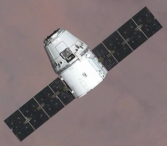 2012 in science - 25 May 2012: SpaceX's Dragon spacecraft (pictured) becomes the first commercial spacecraft to rendezvous with the International Space Station.