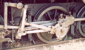 Alexander Allan (locomotive engineer) - Allan valve gear, seen here fitted to an early Austrian locomotive