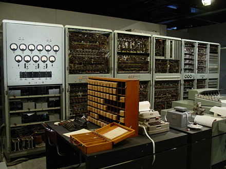 CSIRAC, Australia's first digital computer, displayed at the Melbourne Museum CSIRAC.jpg