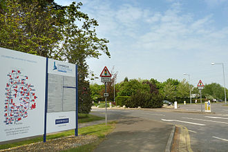 Cambridge Science Park - The main entrance to Cambridge Science Park