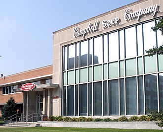 Campbell Soup Company - Entrance to Campbell's headquarters in Camden (prior to renovation and expansion)