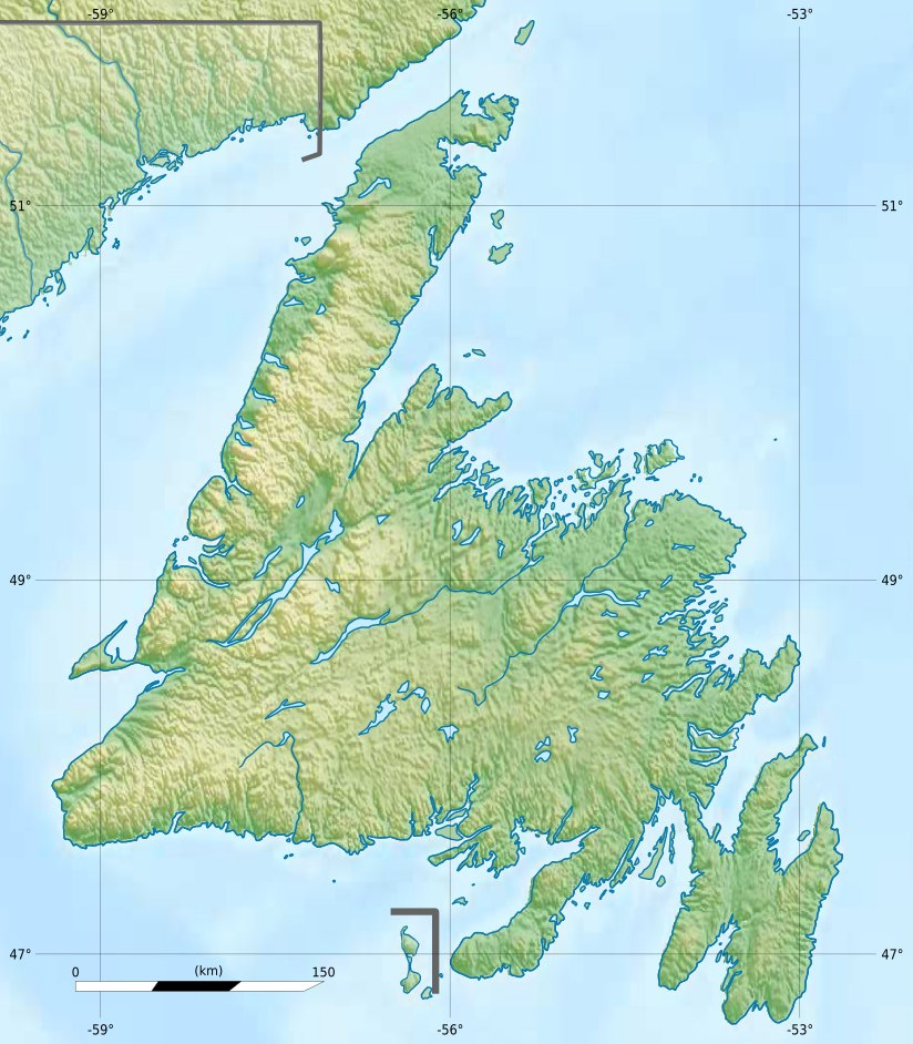 The Cabox is located in Newfoundland