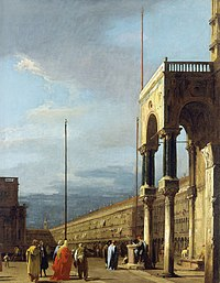 Canaletto (Venice 1697-Venice 1768) - The Piazza looking North-West with the Narthex of San Marco - RCIN 401037 - Royal Collection.jpg