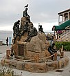Het Cannery Row Monument in Cannery Row