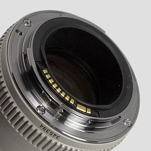 Canon Extender EF - The mount of a lens compatible with an Extender EF