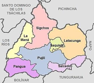 Cotopaxi Province - Image: Cantones de la Provincia de Cotopaxi
