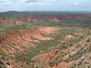 Caprock Canyons State Park and Trailway - Image: Caprock Canyons Side Canyon 2005