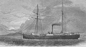 Polaris expedition - Polaris, from a wood engraving published in Harper's Weekly, 1873