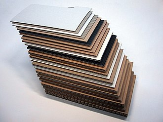 Paperboard - Corrugated fiberboard made from paperboard