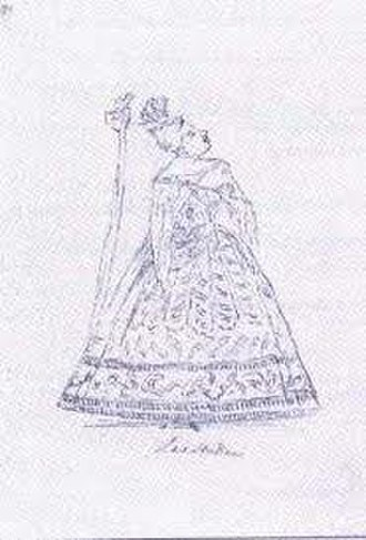Il pastor fido (Handel) - Caricature of Anna Maria Strada, who sang the role of Amarilli in the 1734 revivals