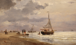 The Beach at Scheveningen.