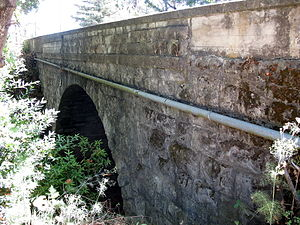 Carneros Creek (Napa River tributary) - Historic Old Sonoma Road bridge over Carneros Creek in 2010