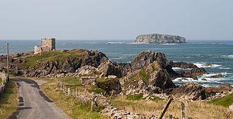 Glashedy - Image: Carrickabraghy Castle and Glashedy Island 2014 09 12