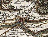 18th-century map showing Bergerac and its defences