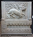 Carved panels with qilin, tomb gate of Zu family tombs, view 2, China, Yongtai Village near Beijing, Qing dynasty, c. 1660-1700, limestone - Royal Ontario Museum - DSC03717.JPG