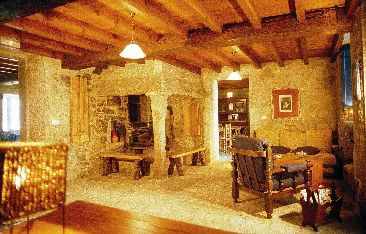 Lareira wikipedia a enciclopedia libre - Casa rural con encanto galicia ...
