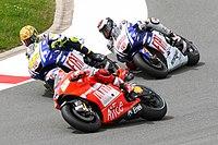 Casey Stoner, Valentino Rossi and Jorge Lorenzo 2009 Sachsenring.jpg
