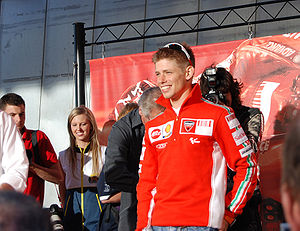 2007 Grand Prix motorcycle racing season - Image: Casey Stoner Phillip Island 2007