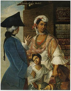 <i>Mestizo</i> Term to denote a person with White and Indigenous American ancestry