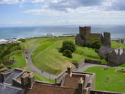 view from Dover Castle.