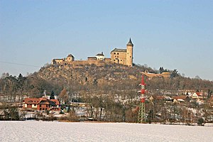 Kunětice Mountain - Kunětice Mountain with the Castle