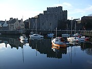 Castle Rushen and outer harbour Castletown - geograph.org.uk - 1708075.jpg