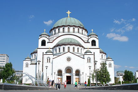 Church of Saint Sava is one of the largest Orthodox churches in the world Cathedral of Saint Sava, Belgrade.jpg