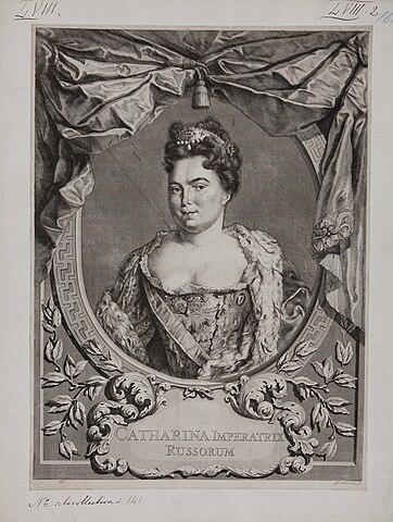 Екатерина Алексеевна. Гравюра 1724г.