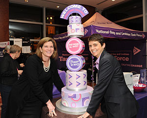 Rea Carey - Rea Carey with First Lady of Maryland Katie O'Malley at the 2012 Conference on LGBT Equality in Baltimore, Maryland