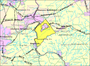 Pohatcong Township, New Jersey - Image: Census Bureau map of Pohatcong Township, New Jersey