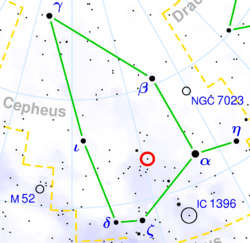 Cepheus constellation crop VV Cephei location.png
