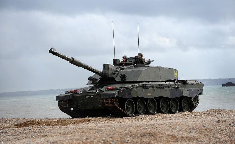 Challenger 2 Tank During Amphibious Demonstration MOD 45152080.jpg