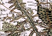 Representation of Chambourg-sur-Indre on the Cassini map